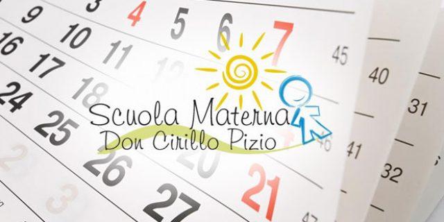 Calendario Scolastico 2017-2018 Scuola Materna don Cirillo Pizio