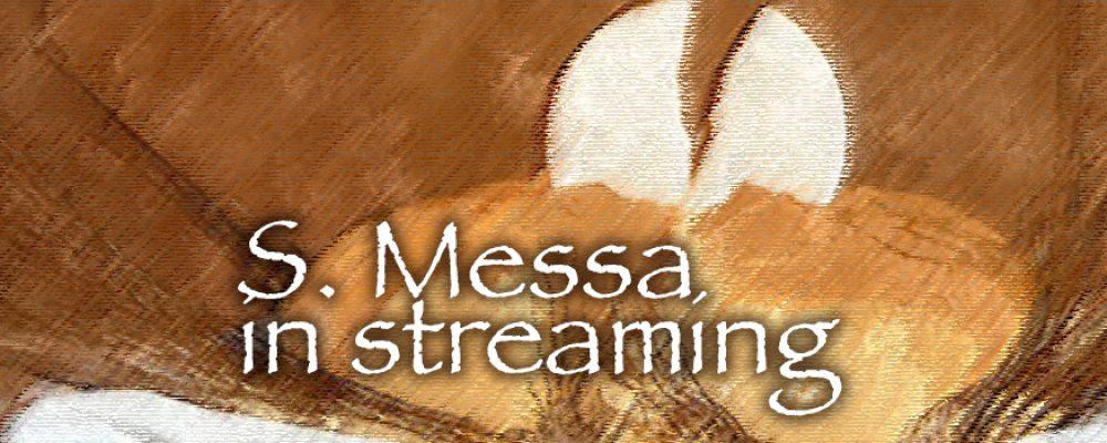 S. Messa in streaming del 01 marzo 2020