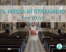 S. Messa in streaming del 16 Agosto 2020
